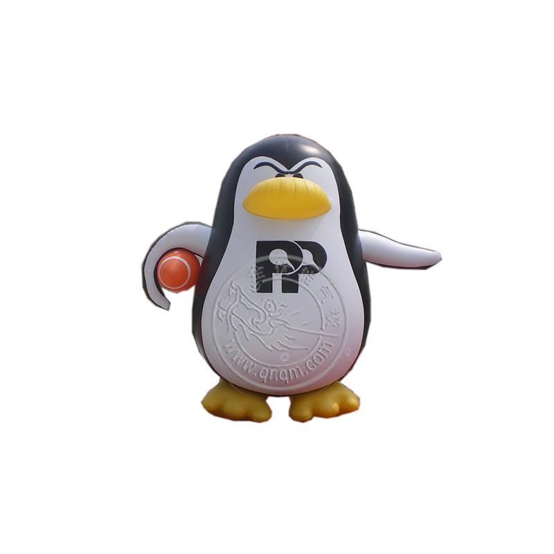 充气卡通模型企鹅