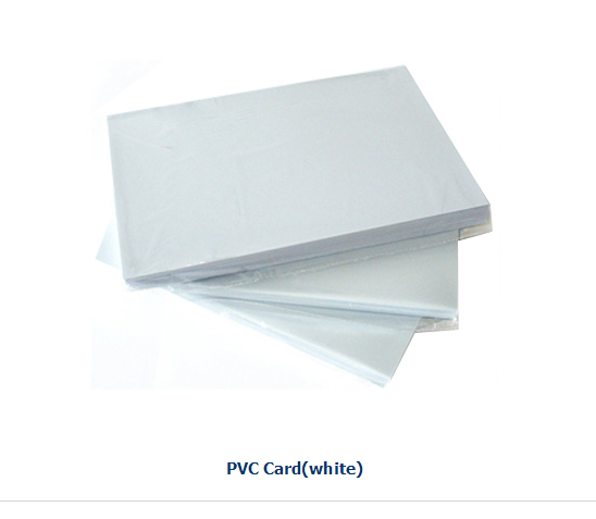 Non lamination sheet/inkjet printing pvc sheet white 0.76mm