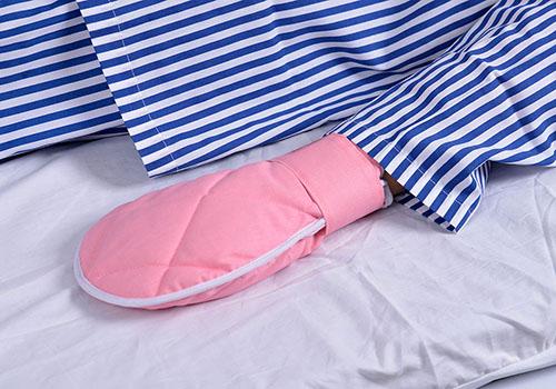 棉质开口型医用ICU防拔管约束手套