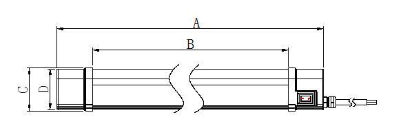 LED防水灯管外形结构图