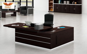 厂家直销 黑橡木办公桌 现代时尚办公室大班台 H80-0164
