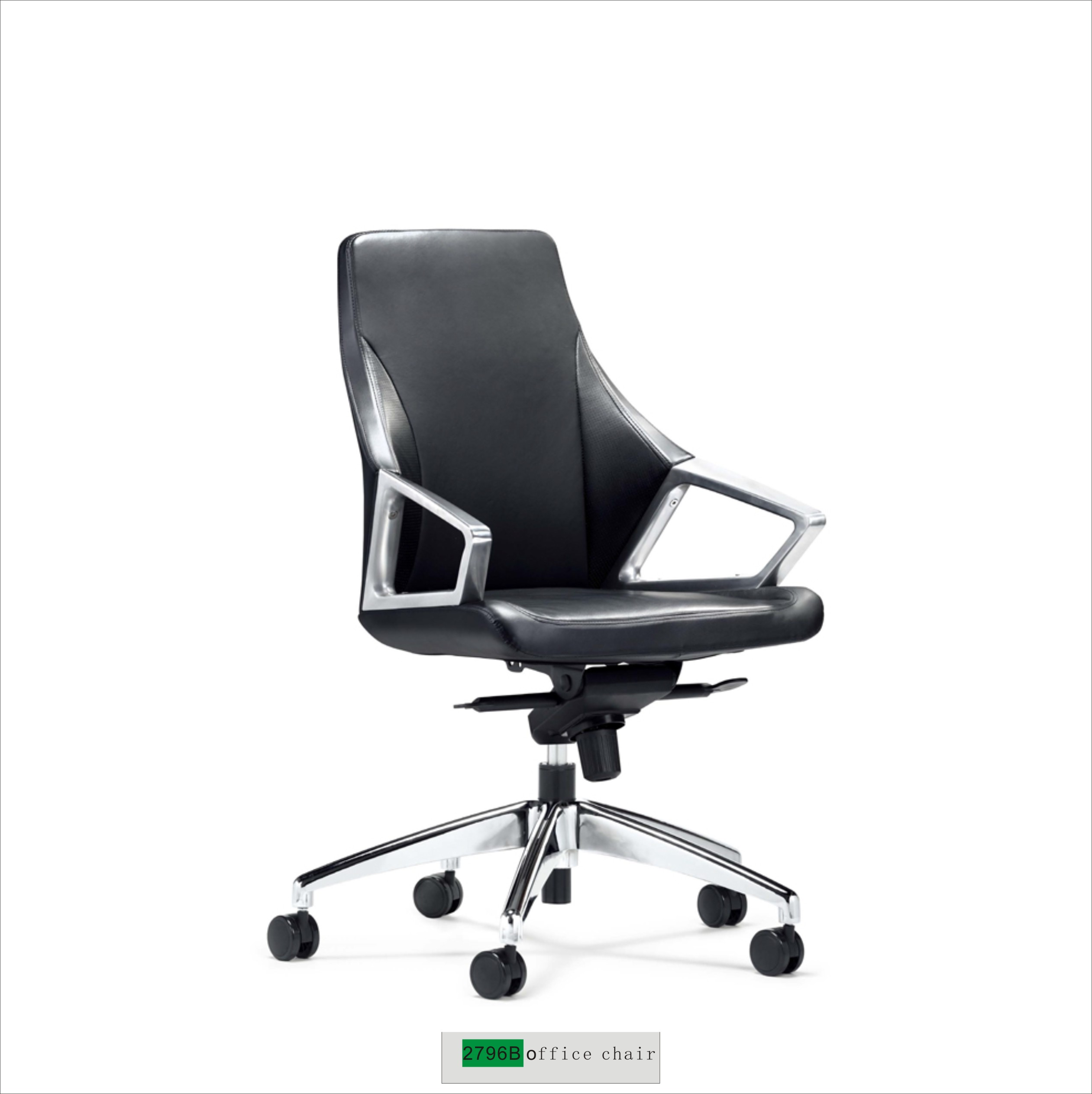 fully adjustable office chair. Genuine Leather Office Chair 2296B Fully Adjustable