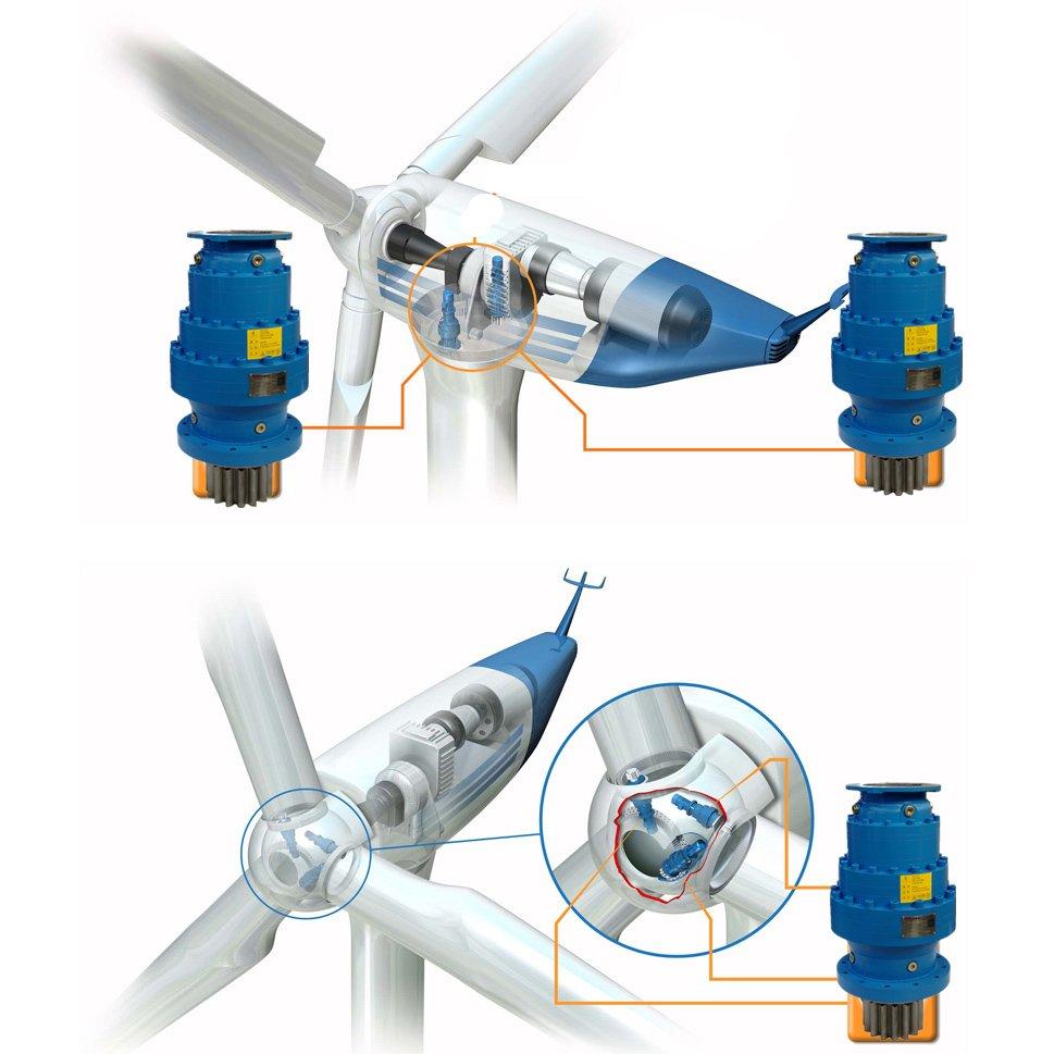 风力发电机组变桨偏航减速机