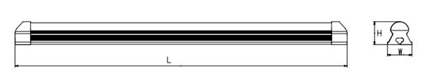 LED T8一体化支架结构图