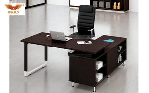 厂家直销 黑橡木办公桌 现代时尚办公室大班台 H80-0168