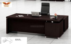 厂家直销 黑橡木办公桌 现代时尚办公室大班台 H80-0166