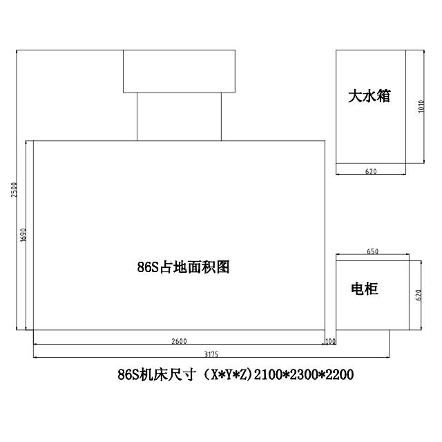 中走丝EFH86占地图