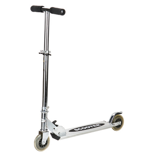 50% steel+50% Aluminium 2 wheel scooter with 100mm PVC wheels