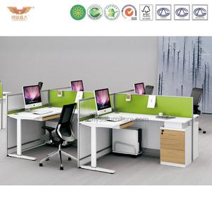 厂家直销 办公家具 四人位职员桌 屏风办公桌 鸿业盛大 H15-0817