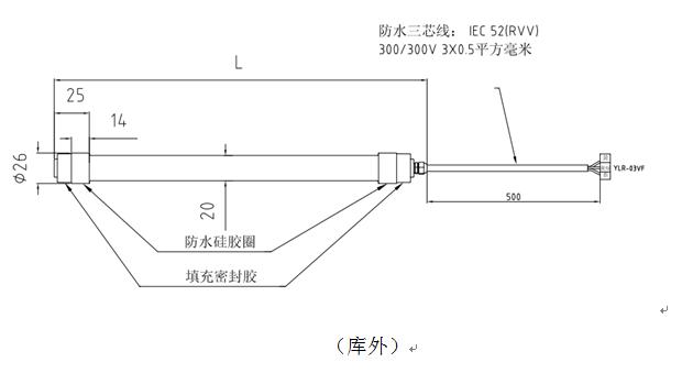 防水灯管规格1