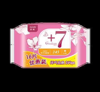 新+7纤巧柔棉日用245mm卫生巾16片