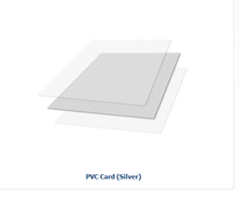 Instant PVC card making material -Silver