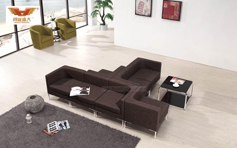 厂家直销 单人位组合办公沙发 现代时尚办公室接待沙发 HY-S028