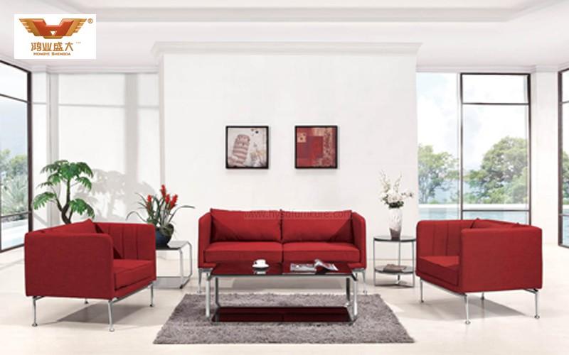 厂家直销 组合办公沙发 现代时尚办公室接待布艺沙发 HY-S031