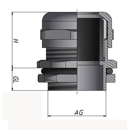 防电磁型金属电缆接头公制螺纹M型