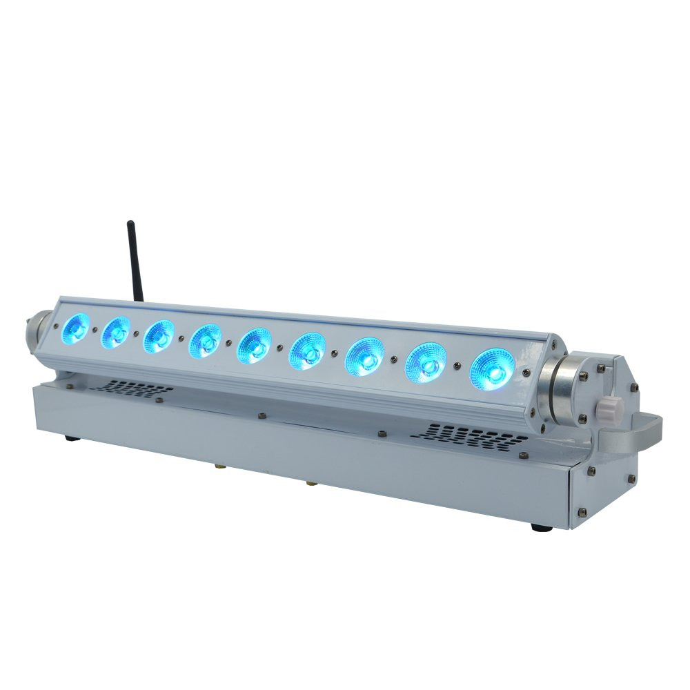 9x18W RGBWAU Wireless Battery LED Bar Light