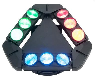9X10W LED Moving Head Spider Light