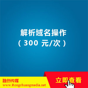 Domain name resolution operation (300 yuan/time)