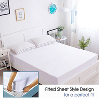 Waterproof, Dust Mite Proof, Bed Bug Proof Breathable Mattress Protector - Queen Size